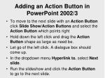 adding an action button in powerpoint 2002 3