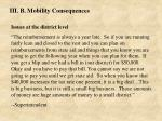 iii b mobility consequences36