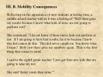 iii b mobility consequences38