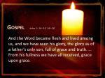 gospel john 1 14 15 16 18