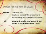 prayer for the year of grace