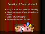 benefits of entertainment