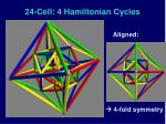 24 cell 4 hamiltonian cycles