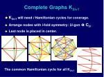 complete graphs k 2 i 1