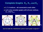 complete graphs k 5 k 7 and k 9