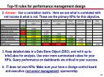 top 10 rules for performance management design48