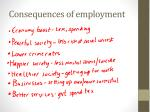 consequences of employment