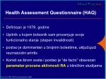 health assessment questionnaire haq