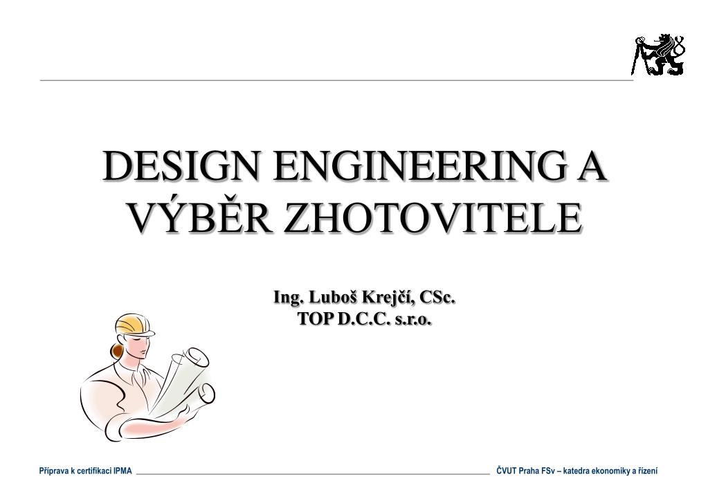 design engineering a v b r zhotovitele l.