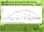 maximizing annual profits from renewable biotic resources