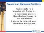 scenario on managing emotions