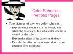 color schemes portfolio pages24