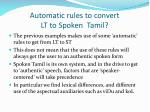 automatic rules to convert lt to spoken tamil