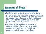 suspicion of fraud