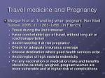 travel medicine and pregnancy7