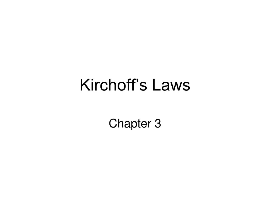 kirchoff s laws l.