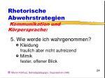 rhetorische abwehrstrategien kommunikation und k rpersprache24