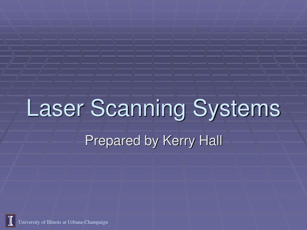 laser scanning systems l.