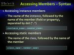 accessing members syntax