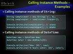 calling instance methods examples