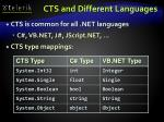 cts and different languages