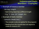 instance and static members examples