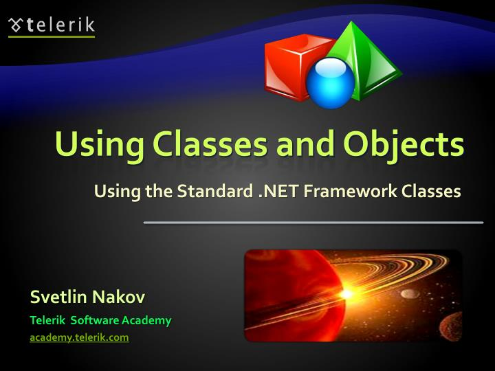 using classes and objects n.