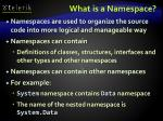 what is a namespace