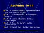 activities 10 14