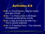 activities 6 9