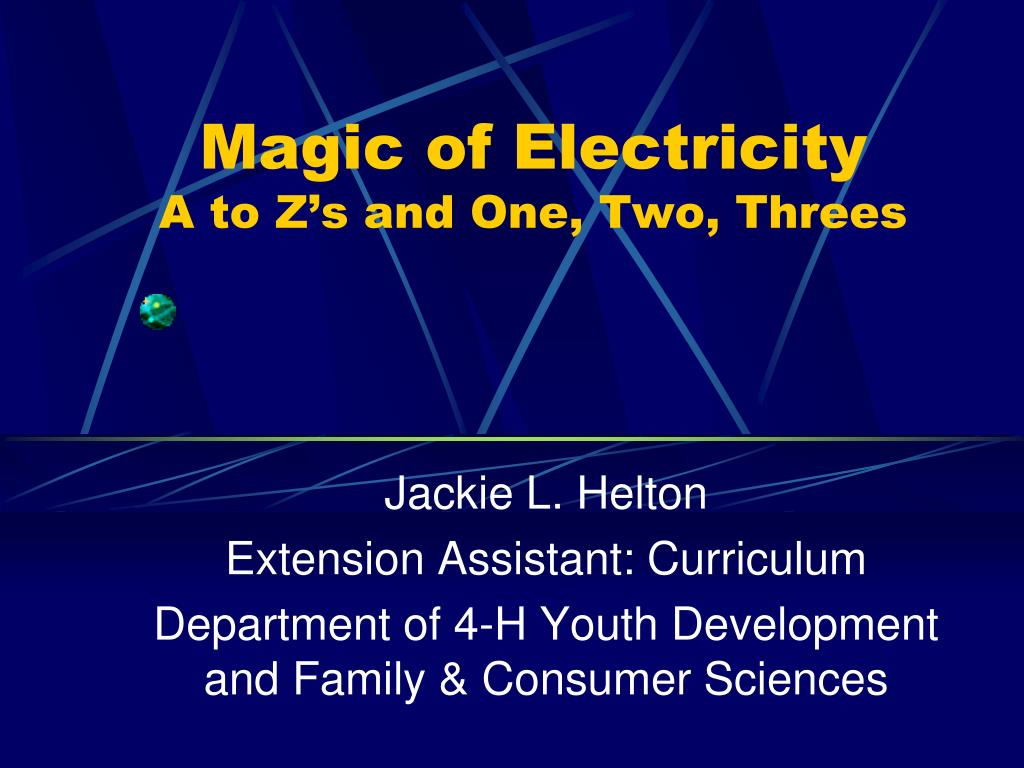 magic of electricity a to z s and one two threes l.