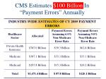 cms estimates 100 billion in payment errors annually