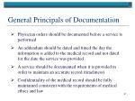 general principals of documentation