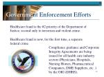 governme nt enforcement efforts