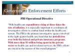 governme nt enforcement efforts12