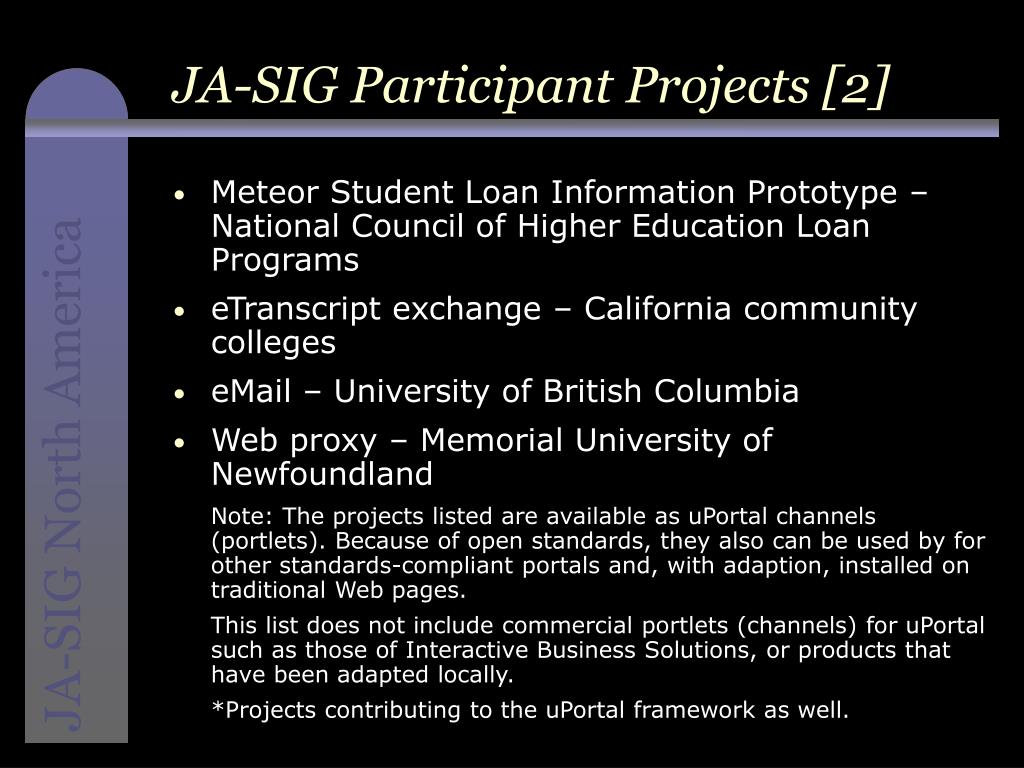 JA-SIG Participant Projects [2]