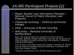 ja sig participant projects 2