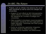 ja sig the future