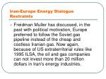 iran europe energy dialogue restraints