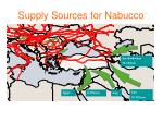 supply sources for nabucco