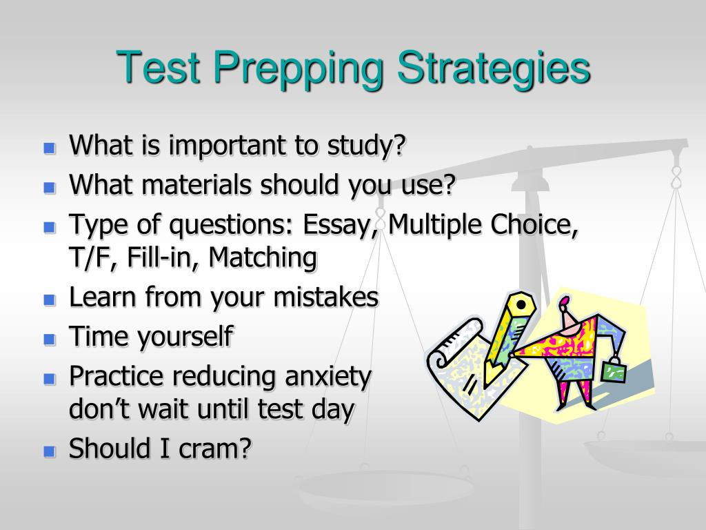 Test Prepping Strategies