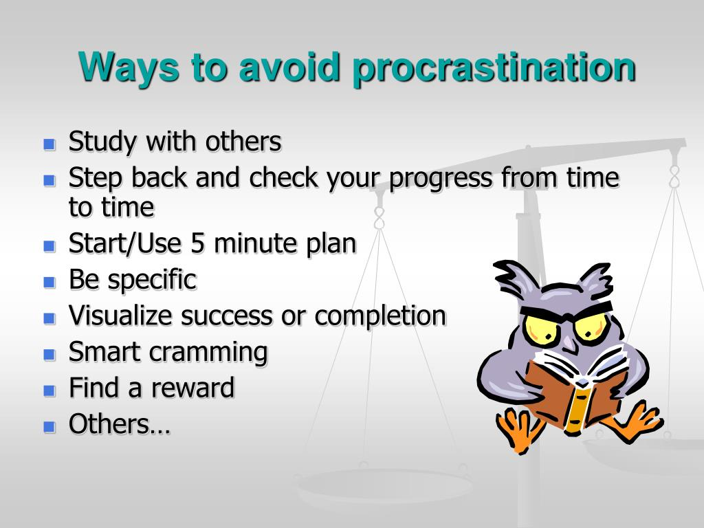 Ways to avoid procrastination