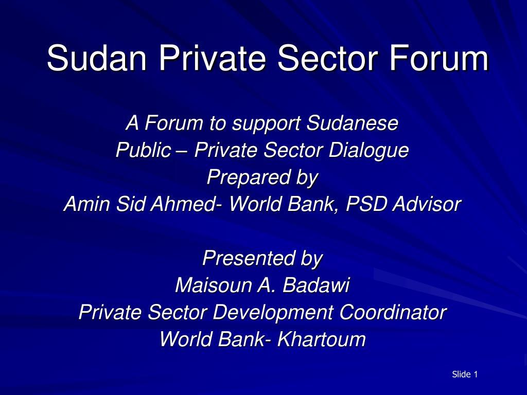 sudan private sector forum l.