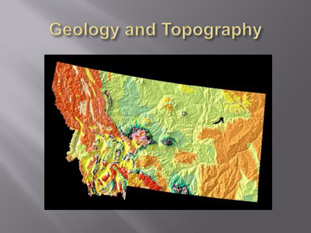 geology and topography l.
