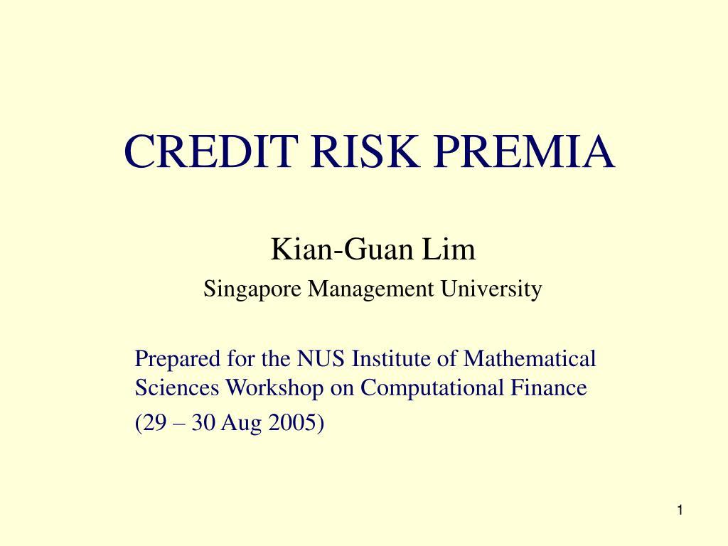 credit risk premia l.