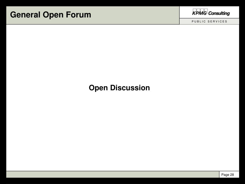 General Open Forum