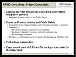 kpmg consulting project consultant