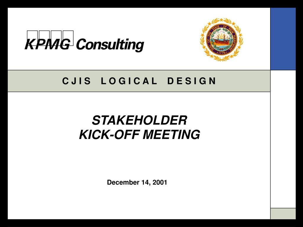 stakeholder kick off meeting l.