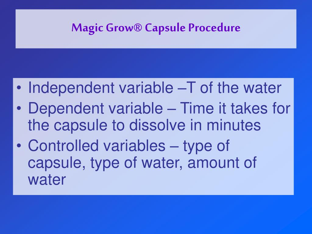 Magic Grow® Capsule Procedure