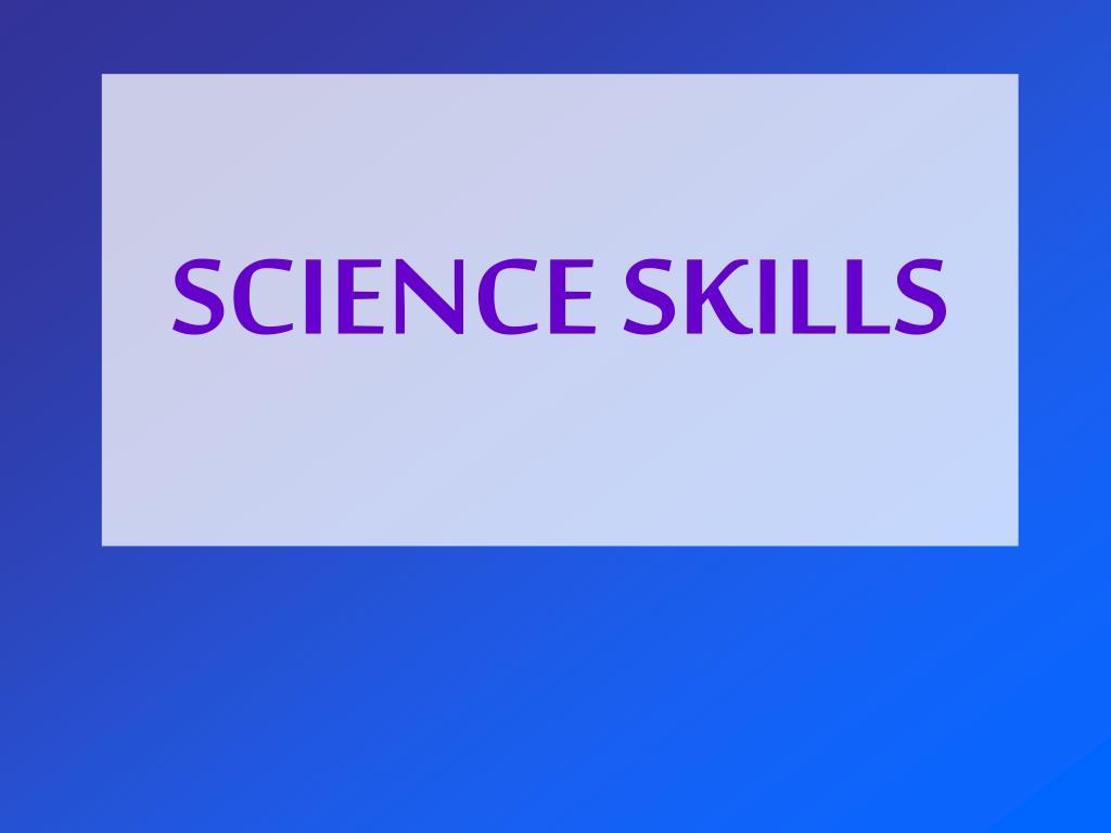science skills l.